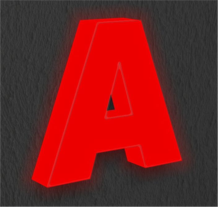 Буквы с лицевой и торцевой подсветкой